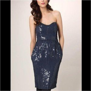 French Connection Spicy Sequins Dress Strapless